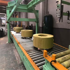 Heavy Steel Coil Horizontal Packing Line Application