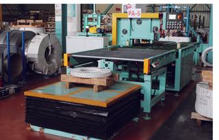 semi-automaitic horizontal coil packing line